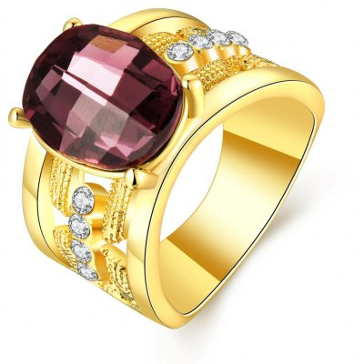 R780-A-8 Nickle Free Antiallergic New Fashion Jewelry 18K Gold Plated Ring