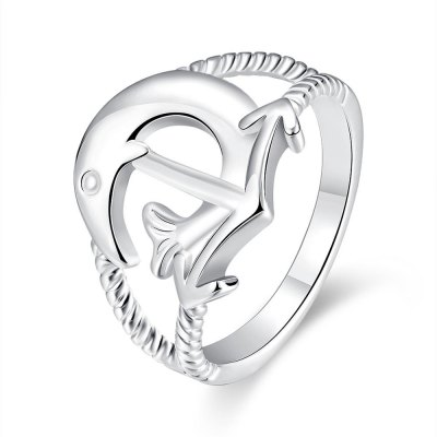 R737 Silver Plated New Design Finger Ring for Lady