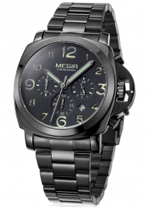 MEGIR 3778 Date Function Men Quartz Watch Luminous Pointer