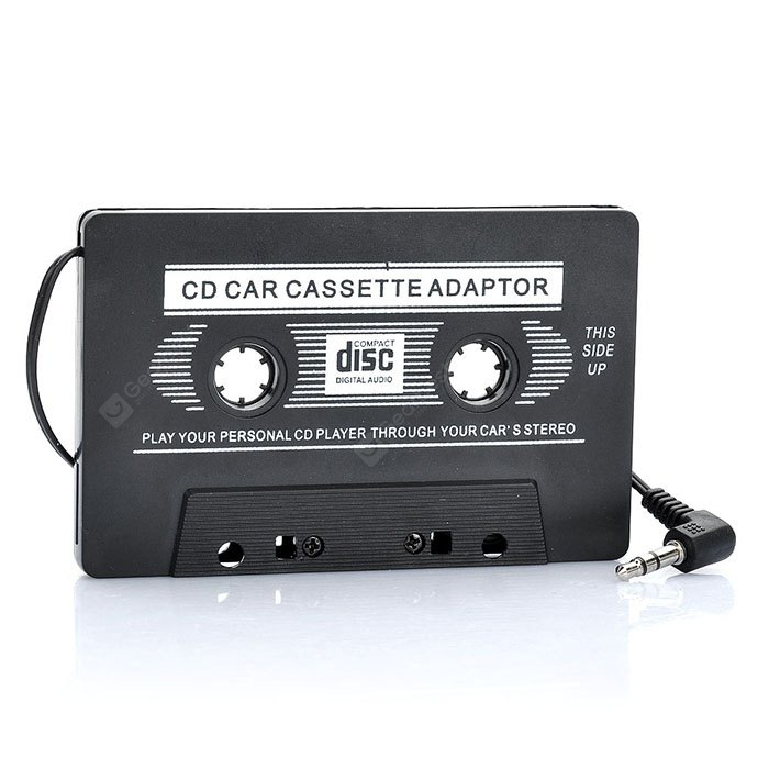 Auto Transmitter Cassette Tape Adapter for MP3-CD-DVD Player
