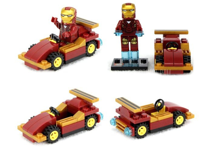 Lepin Iron Man Figure Vehicle Set COFFEE