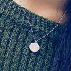 cheap Fashionable Matte Round Shape Pendant Necklace For Women