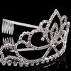 Charming Rhinestoned Water Drop Hollow Out Crown For Women photo