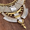 Vintage Rhinestone Faux Crystal Geometric Hollow Out Necklace For Women deal