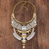cheap Vintage Rhinestone Faux Crystal Geometric Hollow Out Necklace For Women