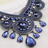 Vintage Rhinestone Hollow Out Water Drop Pendant Necklace For Women deal