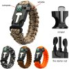 4pcs 5 in 1 Paracord Bracelet for Outdoor Survival