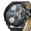 Geneva 409 Date Function Male Four Movt Quartz Watch deal