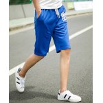 Buy Sports Straight Leg Letters Print Patch Pocket Lace-Up Men's Shorts 3XL
