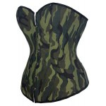 cheap Stylish Strapless Camouflage Print Lace-Up Women's Corset