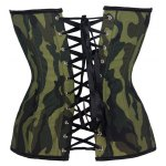 Stylish Strapless Camouflage Print Lace-Up Women's Corset deal