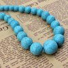 Retro Turquoise Ball Shape Necklace For Women deal