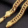 Simple Style Solid Color Link Chain Bracelet For Men deal