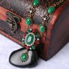 A Suit of Noble Faux Crystal Oval Flower Shape Necklace and Earrings For Women deal