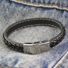 Faux Leather Rope Chain Knitting Bracelet deal