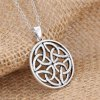 Vintage Round Hollow Out Pendant Necklace For Women deal