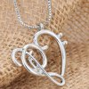 best Music Note Heart Shape Hollow Out Necklace