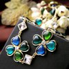 Graceful Faux Gemstone Artificial Crystal Heart Necklace For Women photo