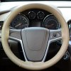 cheap 38cm PU Leather Car Punching Steering Wheel Cover