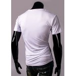 Casual Round Neck 3D Pattern Print Short Sleeve Men's T-Shirt for sale