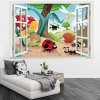 3D Insects Family Style Window View Wallpaper deal