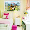3D Madagascar Cartoon Style Window View Wall Stickers photo