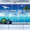 Ocean Pattern Anti Oil Kitchen Wall Stickers for sale