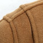 PU Leather Spliced Stereo Pocket Horn Button Hooded Long Sleeves Men's Cashmere Blend Coat deal