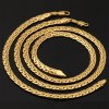 A Suit of Vintage Solid Color Woven Shape Chain Bracelet and Necklace For Men deal