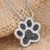 Chic Rhinestoned Footprint Shape Necklace For Women for sale