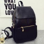 best Vintage Style PU Leather and Black Design Women's Backpack