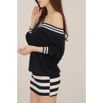 cheap Stylish Striped V-Neck Long Sleeve Dress For Women