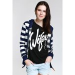 cheap Long Sleeve Striped Zippered Women's Hoodie