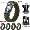 5pcs 5 in 1 Outdoor Survival Paracord Bracelet