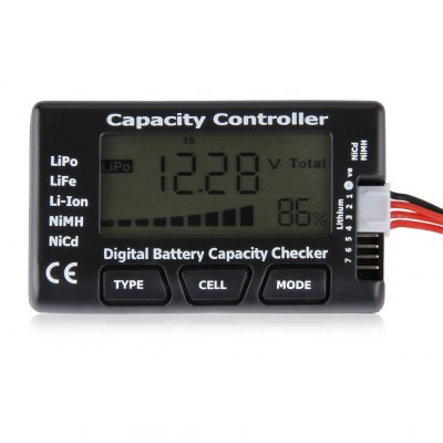 LCD Battery Capacity Voltage Checker Controller Tester for LiPo LiFe Li-ion NiMH Nicd battery