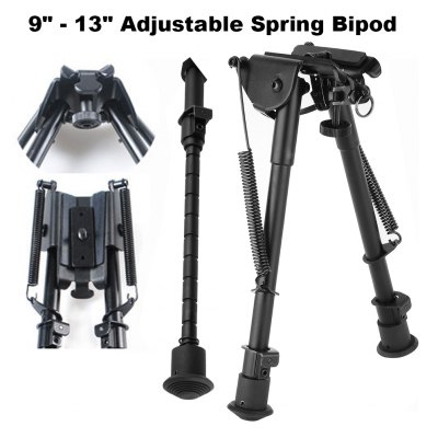9 - 13 inch Adjustable Spring Bipod for Hunting