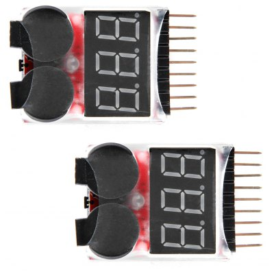 2pcs Remote Control Helicopter Multicopter Spare parts Lipo LiFe LiMn Li-ion Battery Monitor Alarm Low Voltage Buzzer Al