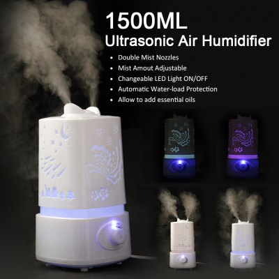 1.5L Ultrasonic Air Humidifier Diffuser Purifier Nebulizer with LED Light Changing US