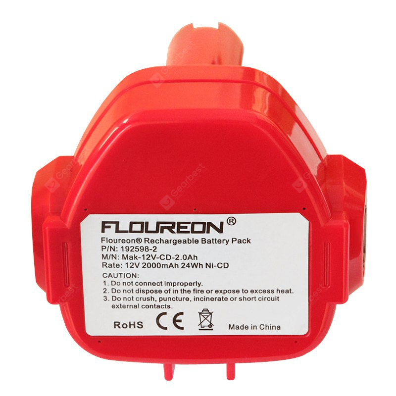 FLOUREON 12V 2000mAh Ni-CD Battery Replacement