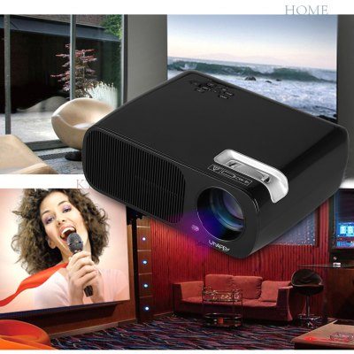 Uhappy mini LED LCD projector 800*480 USB/HDMI/ATV/AV/VGA home theater black EU