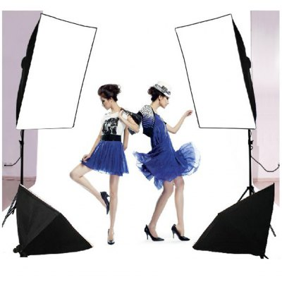 125W Studio Softbox Continuous Lighting Kit + 3 Backdrop background Stand &amp; BagPhoto Studio Accessories<br>125W Studio Softbox Continuous Lighting Kit + 3 Backdrop background Stand &amp; Bag<br>