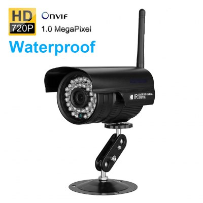 Sinocam 720P Waterproof IP Camera Wireleess 1.0 Megapixel ONVIF Security WiFiIP Cameras<br>Sinocam 720P Waterproof IP Camera Wireleess 1.0 Megapixel ONVIF Security WiFi<br><br>Brand: Sinocam<br>Shape: Bullet Camera<br>Technical Feature : Infrared,Waterproof<br>Special function: IR - CUT<br>Mount Types: Wall bracket<br>Specification of Power Supply: DC 12V input<br>IP camera performance : Motion Detection,Night Vision,Real-time video capture and recording,Support video control<br>Protocol: DHCP,DNS,HTTP,ICMP,IP,ONVIF,P2P,PPPOE,RTCP,RTP,SMTP,TCP,UDP<br>Wireless: WiFi 802.11 b/g/n<br>IP Mode : PPPOE<br>Web Browser: Firefox,Google Chrome,IE<br>Mobile Access: Android,IOS<br>Motion Alarm : Yes<br>Alarm Notice: Email Photo<br>Operating system: Microsoft Windows 7,Microsoft Windows 8,Microsoft Windows Vista,Microsoft Windows XP<br>Video Compression Format: H.264<br>Sensor: CMOS<br>Sensor size (inch): 1/4<br>Pixels: 1MP<br>Video Standard: NTSC,PAL<br>Video format: AVI<br>Resolution: 1280 x 720<br>Image Adjustment: Brightness,Color saturation,Contrast,Hue,Sharpness<br>White Balance: Auto<br>Minimum Illumination: 0 lux with IR on<br>S/N Ration: 39dB max<br>Infrared Sensitivity: Yes<br>Infrared LED: 36 IR Leds<br>Infrared Distance: 10-20m<br>Environment: Indoor,Outdoor<br>Waterproof: IP66<br>Operate Temperature (?): -20 - +55 Deg<br>Working Humidity (%) RH: 10 - 90 percent<br>Product weight: 0.700 kg<br>Package weight: 0.850 kg<br>Product size (L x W x H): 20.00 x 10.00 x 11.00 cm / 7.87 x 3.94 x 4.33 inches<br>Package size (L x W x H): 25.00 x 15.00 x 13.00 cm / 9.84 x 5.91 x 5.12 inches<br>Package Contents: 1 x 720P Wireless Waterproof IP Camera, 1 x Power Adapter, 1 x Mounting Screws, 1 x CD Disk