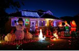 Solar Powered Light-Sensitive Christmas Decoration Lights 20 LED Solar Light String Chuzzle Ball Solar Fairy LED String Lights for Outdoor/Indoor, Gardens, Houses, Patio, Porch, Lawn, Wedding, Christm photo