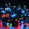EXCELVAN 131 Ft. Multi Color Battery Operated 300 LED 8 Function Indoor Outdoor Cool Touch Connectable Holiday String Lights Kit with 6 Hour Built in Timer for sale