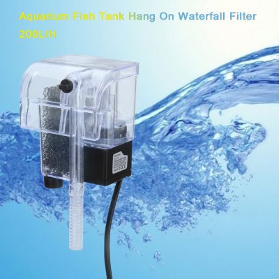 200L/H Aquarium Hang On Waterfall Filter For Fish Tank 2W SL-300 UK