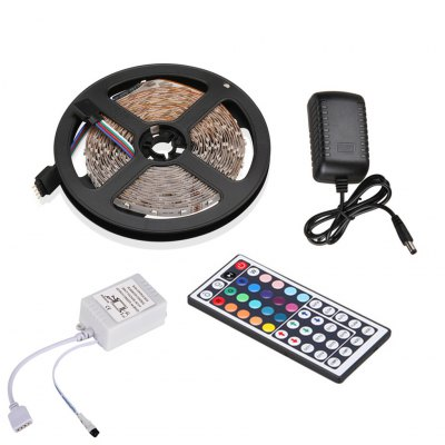 Excelvan 16.4ft 5M Flexible strip SMD3528 RGB 300LEDs Color Changing LED Light Strip Kit, 44Key IR Remote Control+ 2A Power Adapter, Multi-color Blossom Decorative Gardens, Lawn, Patio, Christmas TreeLED Strips<br>Excelvan 16.4ft 5M Flexible strip SMD3528 RGB 300LEDs Color Changing LED Light Strip Kit, 44Key IR Remote Control+ 2A Power Adapter, Multi-color Blossom Decorative Gardens, Lawn, Patio, Christmas Tree<br>