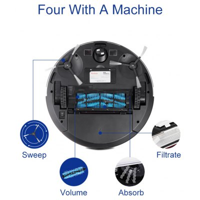 Vacuum Robot US Plug with Multi-point Touch Screen