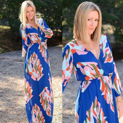 2016 new arrival high quality printed dress woman abstract pattern design  dress holiday dressMaxi Dresses<br>2016 new arrival high quality printed dress woman abstract pattern design  dress holiday dress<br>