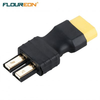 FLOUREON TRX Male Plug to XT60 Female Plug  Conversion Adapter for Battery and Charger ESC