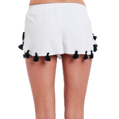 2016 new arrival summer style white shorts woman tassel design sexy basic shortsShorts<br>2016 new arrival summer style white shorts woman tassel design sexy basic shorts<br>